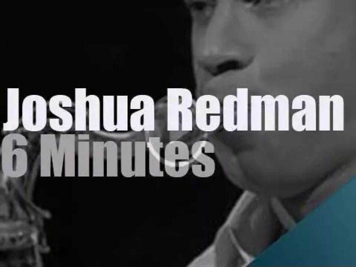 On TV today, Joshua Redman plays on French television (