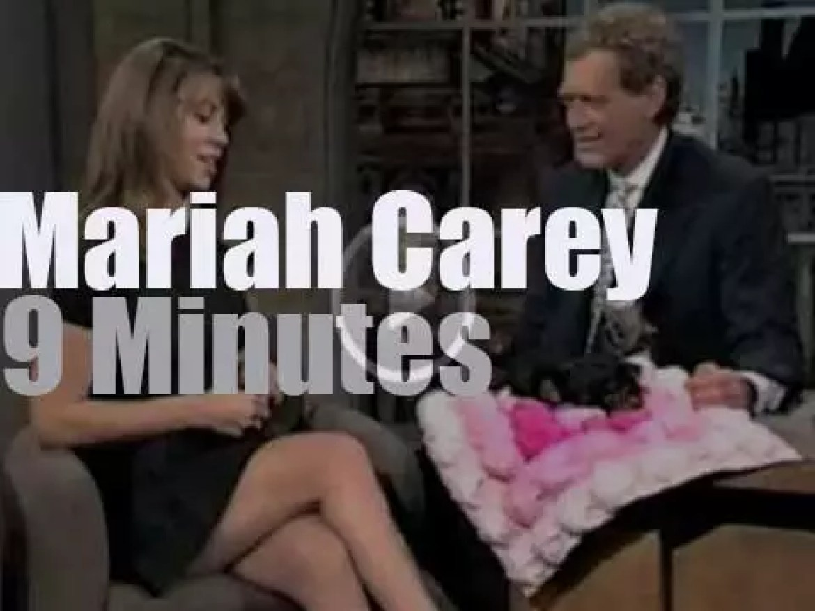 On TV today, Mariah Carey guests with David Letterman (1994)