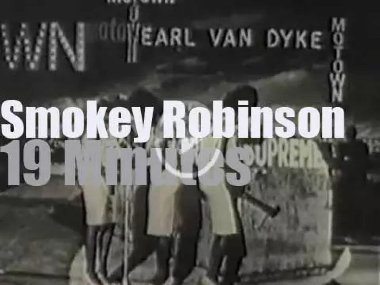 "On TV today, Smokey Robinson on ""Late Night"" (1983)"