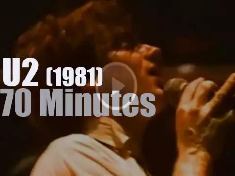 Young Irish band U2 performs in San Francisco (1981)