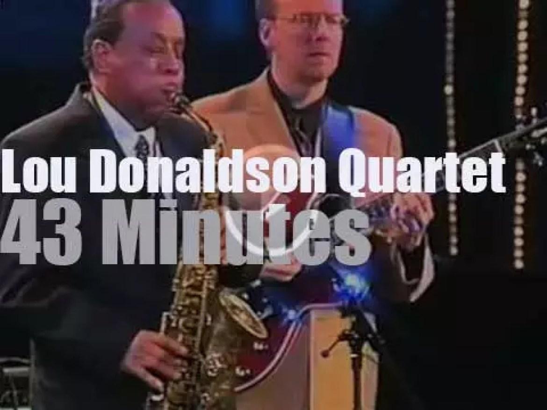 the Lou Donaldson Quartet is at Jazzwoche Burghausen (2000)