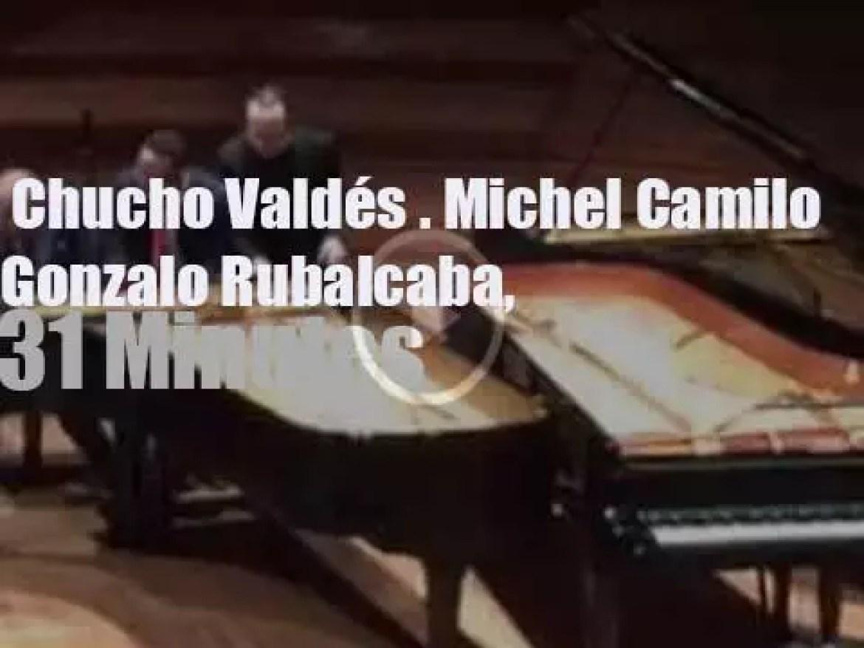 Chucho Valdés, Gonzalo Rubalcaba & Michel Camilo have a threesome (2015)