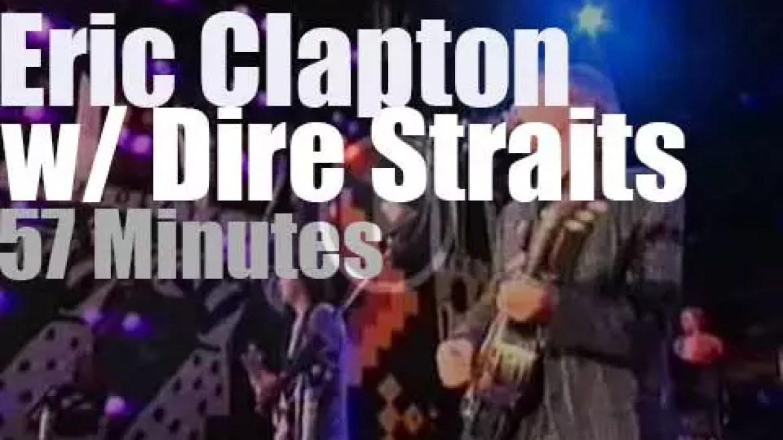 Eric Clapton  joins Dire Straits for Nelson Mandela 70th Birthday (1988)