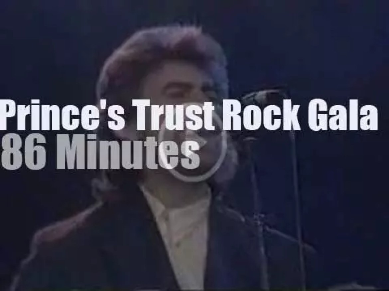 Elton John, Eric Clapton, George Harrison et al entertain the  Prince and Lady Di (1987)