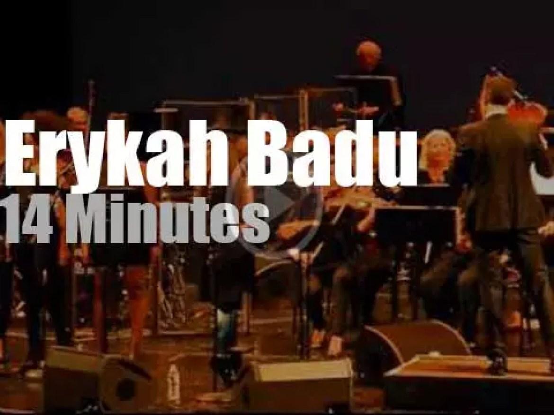 Erykah Badu sings with the Brooklyn Philharmonic  (2013)