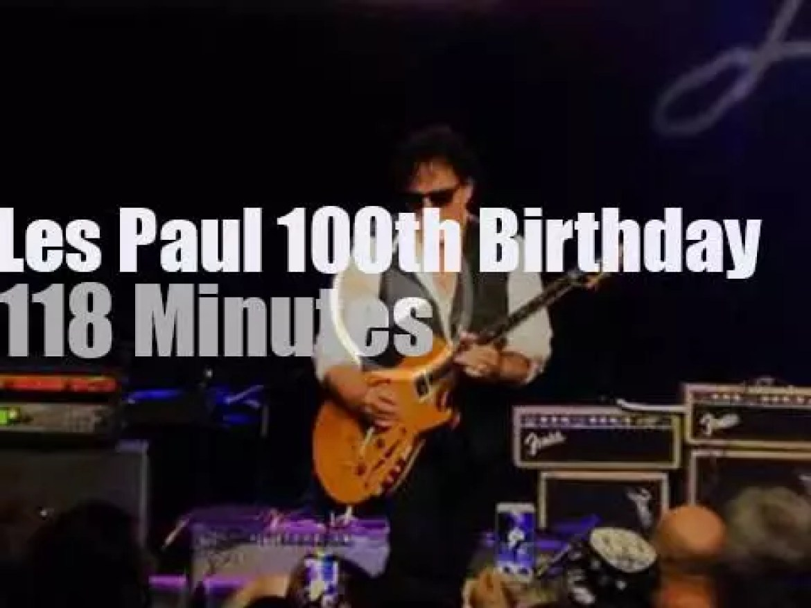 Joe Satriani, Steve Vai, Neal Schon et al celebrate Les Paul 100th Birthday (2015)