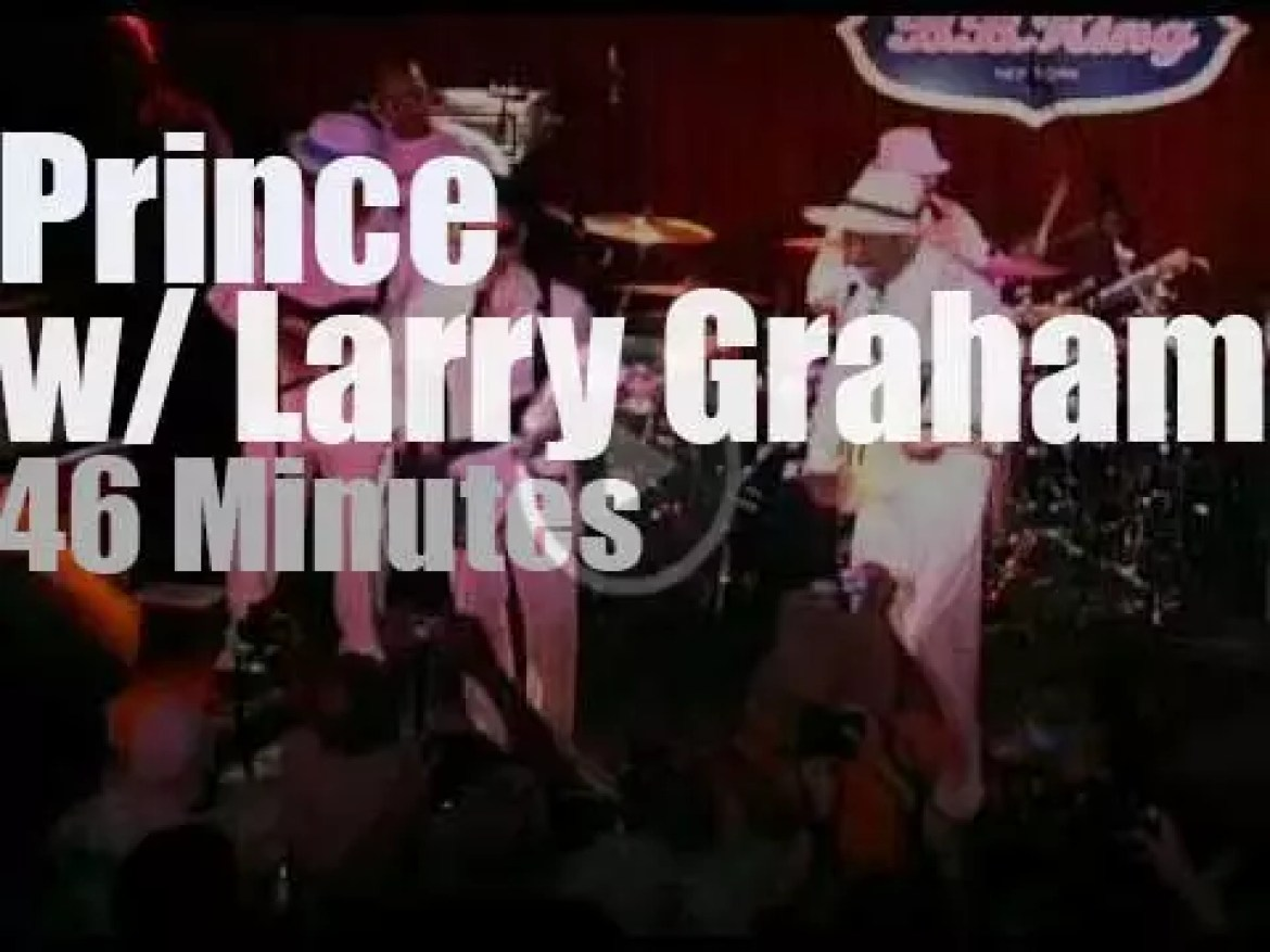 Larry Graham slaps in NYC, then Prince appears (2010)
