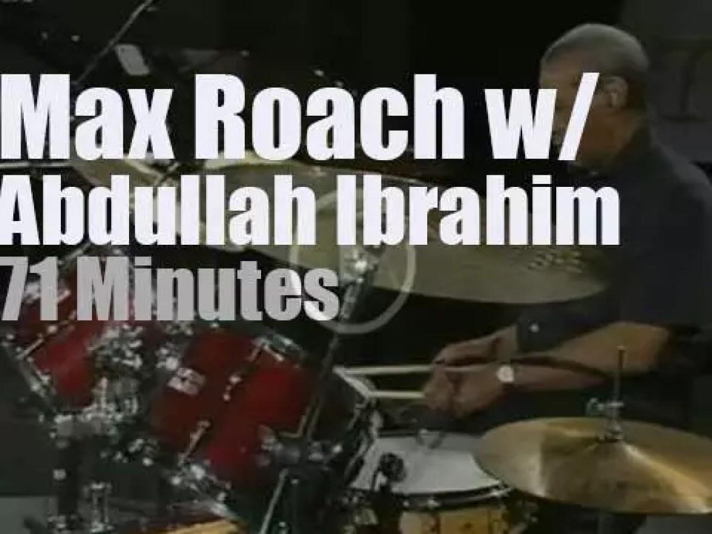 Max Roach & Abdullah Ibrahim duet at Jazz Baltica (1997)