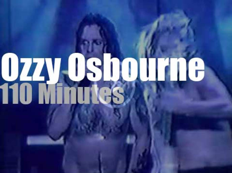 Ozzy Osbourne hard rocks Seattle (1992)