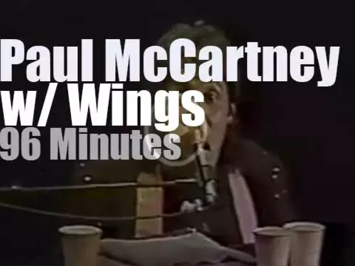 Paul McCartney performs with Wings  in Seattle (1976)