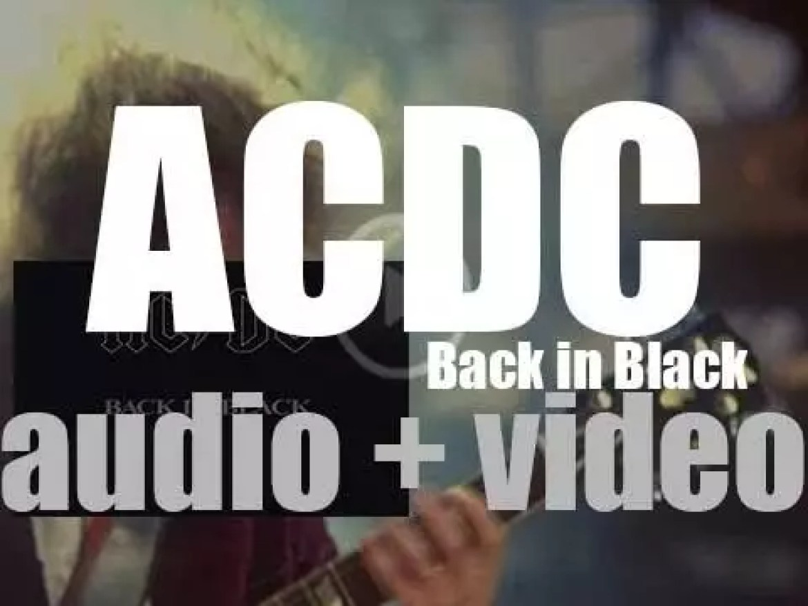 AC/DC release 'Back in Black,' their seventh album featuring 'You Shook Me All Night Long' (1980)