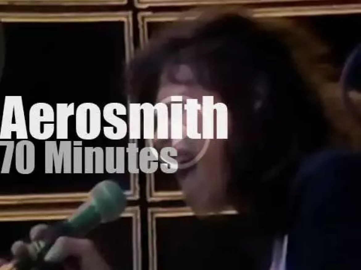 """Aerosmith are """"Monsters Of Rock"""" (1979)"""