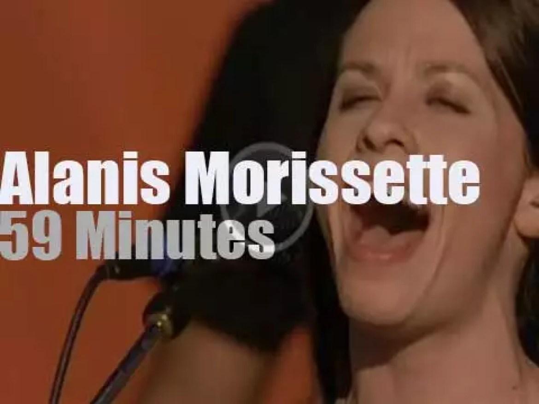 Alanis Morissette sings at Woodstock '99 day 3 (1999)