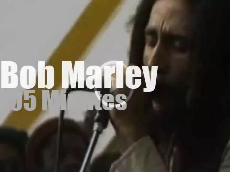 Bob Marley plays in a Boston stadium (1979)