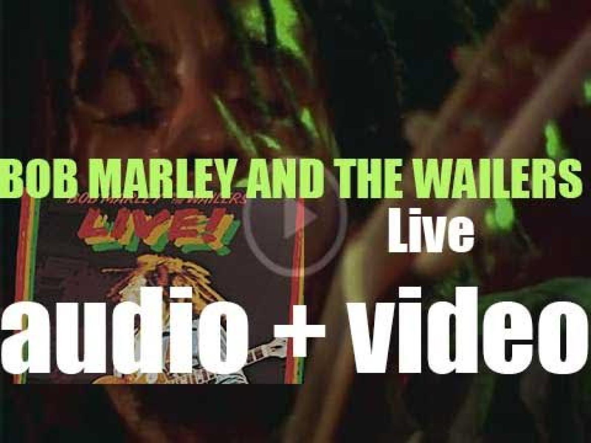 Bob Marley & The Wailers record the album 'Live!' at The Lyceum in London (1975)