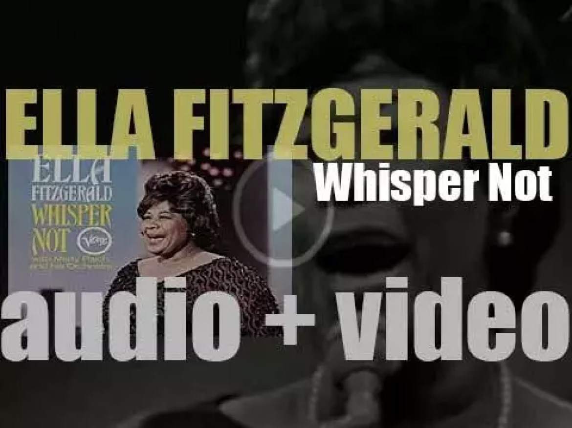 Ella Fitzgerald records in studio 'Whisper Not' with the Marty Paich Orchestra (1966)