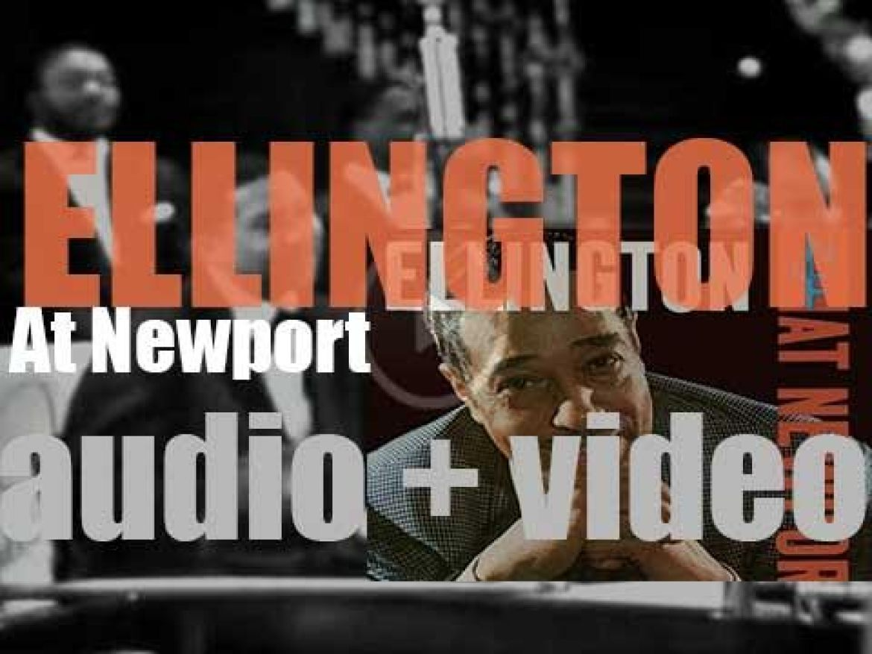 Columbia record Duke Ellington and his band at the Newport Jazz Festival for 'Ellington at Newport' (1956)