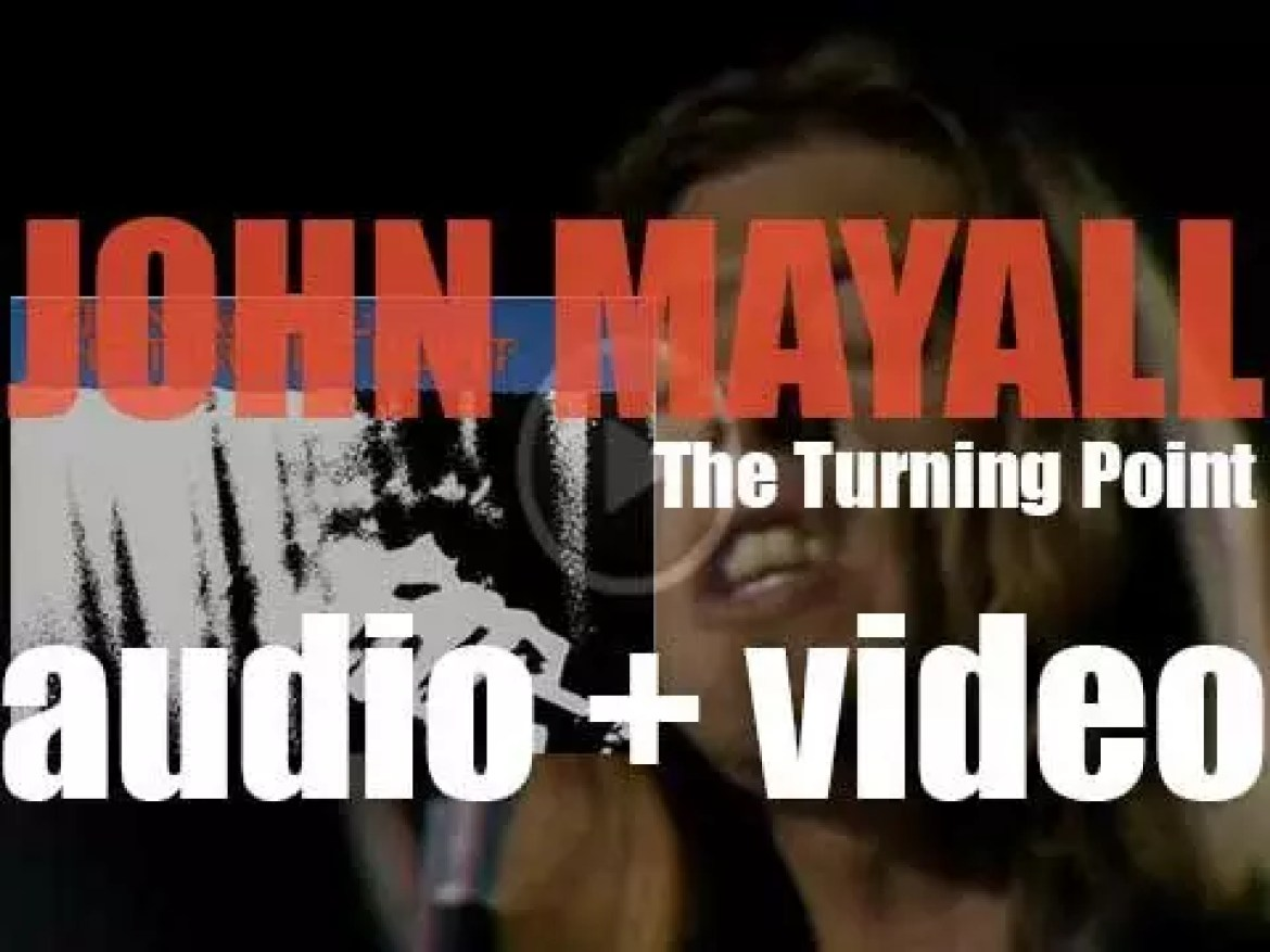 John Mayall records 'The Turning Point' live at the Fillmore East in New York City (1969)