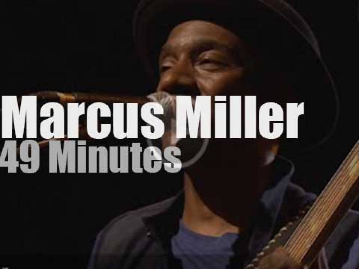 Marcus Miller plays at Montreux Jazz (2013)