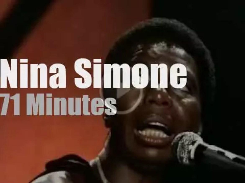 Nina Simone sings at Montreux Jazz Festival (1976)
