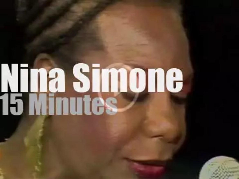 Nina Simone sings in Cologne (1990)