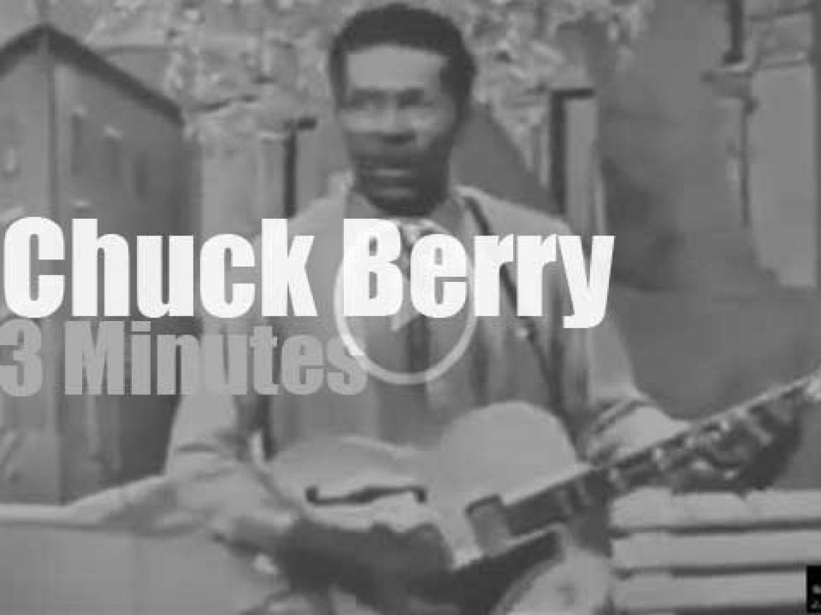 On TV today, Chuck Berry with Dick Clark (1959)