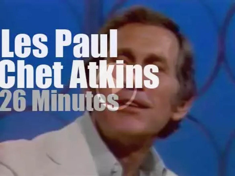 On TV today, Les Paul & Chet Atkins promote an album (1978)