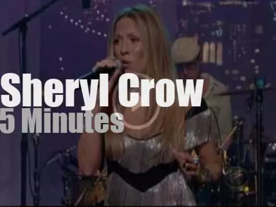 On TV today, Sheryl Crow on Letterman (2010)