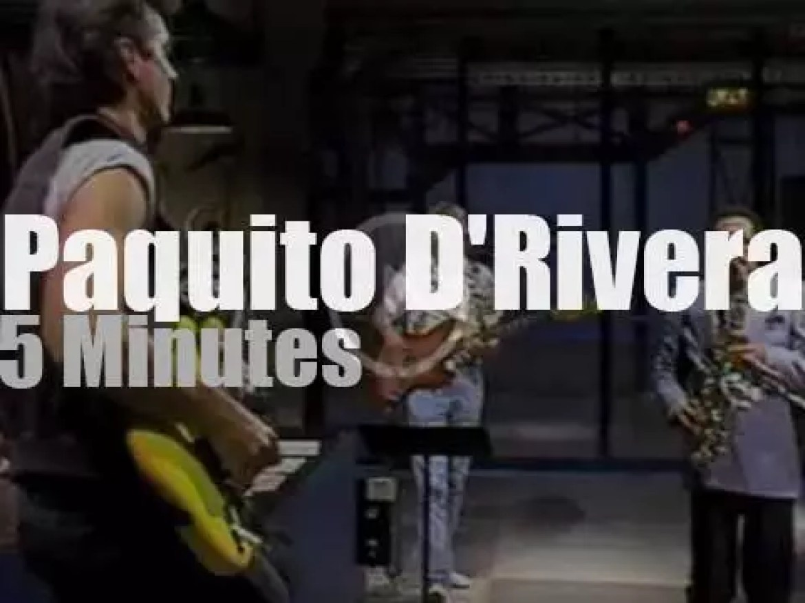 On TV today, Paquito D'Rivera on Letterman (1985)
