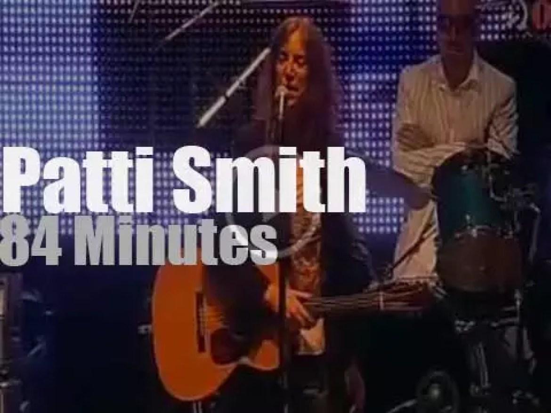 Patti Smith sings at Jazzaldia (2010)