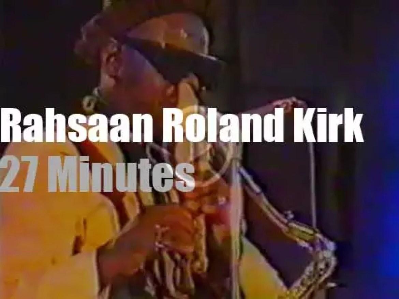 Roland Kirk plays at Montreux Jazz (1975)