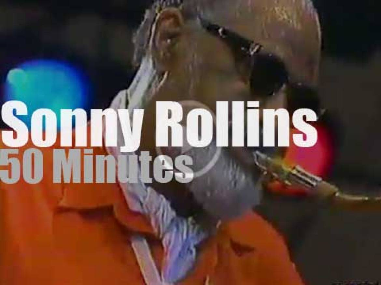Sonny Rollins plays at Umbria Jazz (1996)