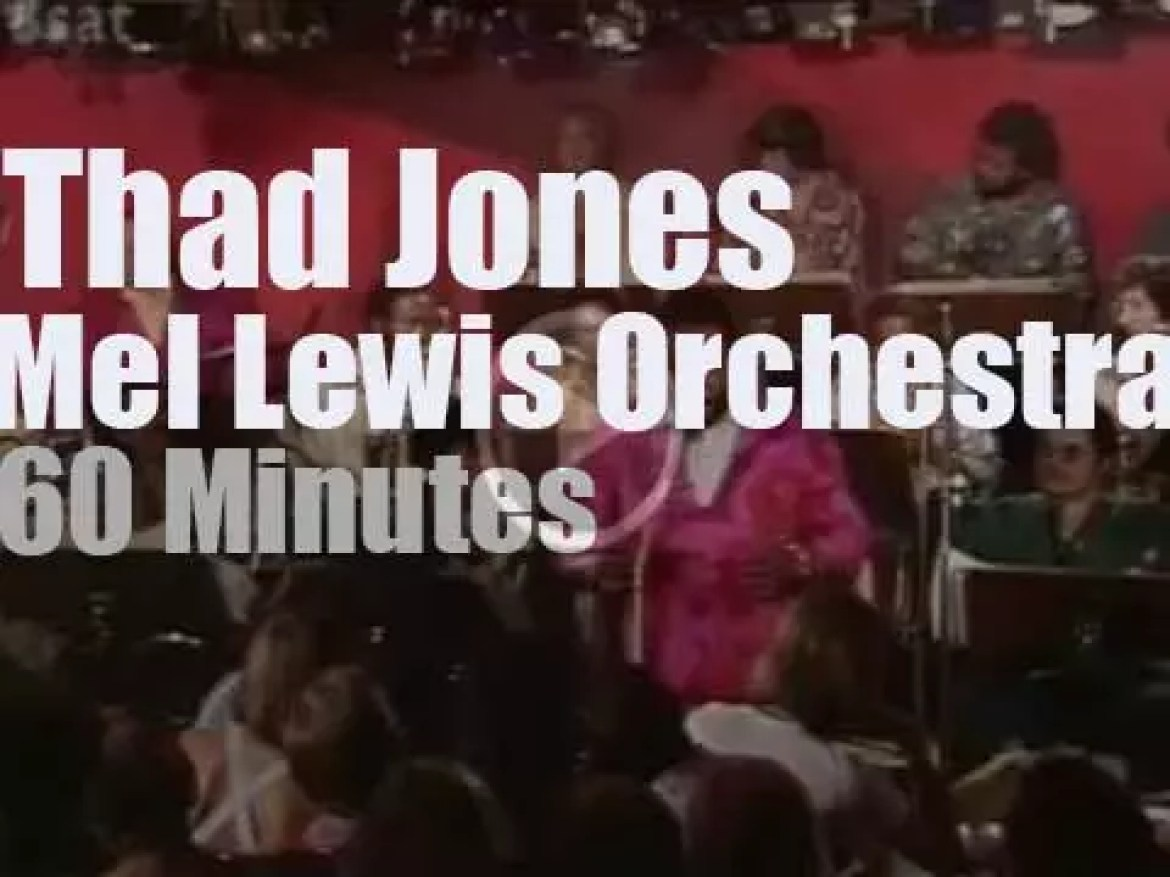 Thad Jones plays with the Mel Lewis Orchestra (1976)