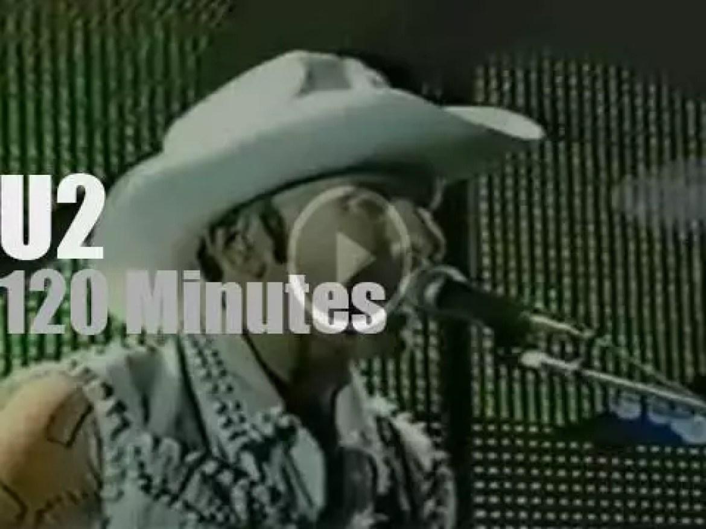 U2 perform in Massachusetts (1997)