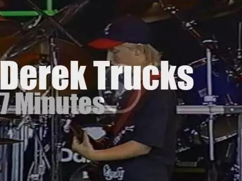 Young Derek Trucks opens for the Allman (1993)