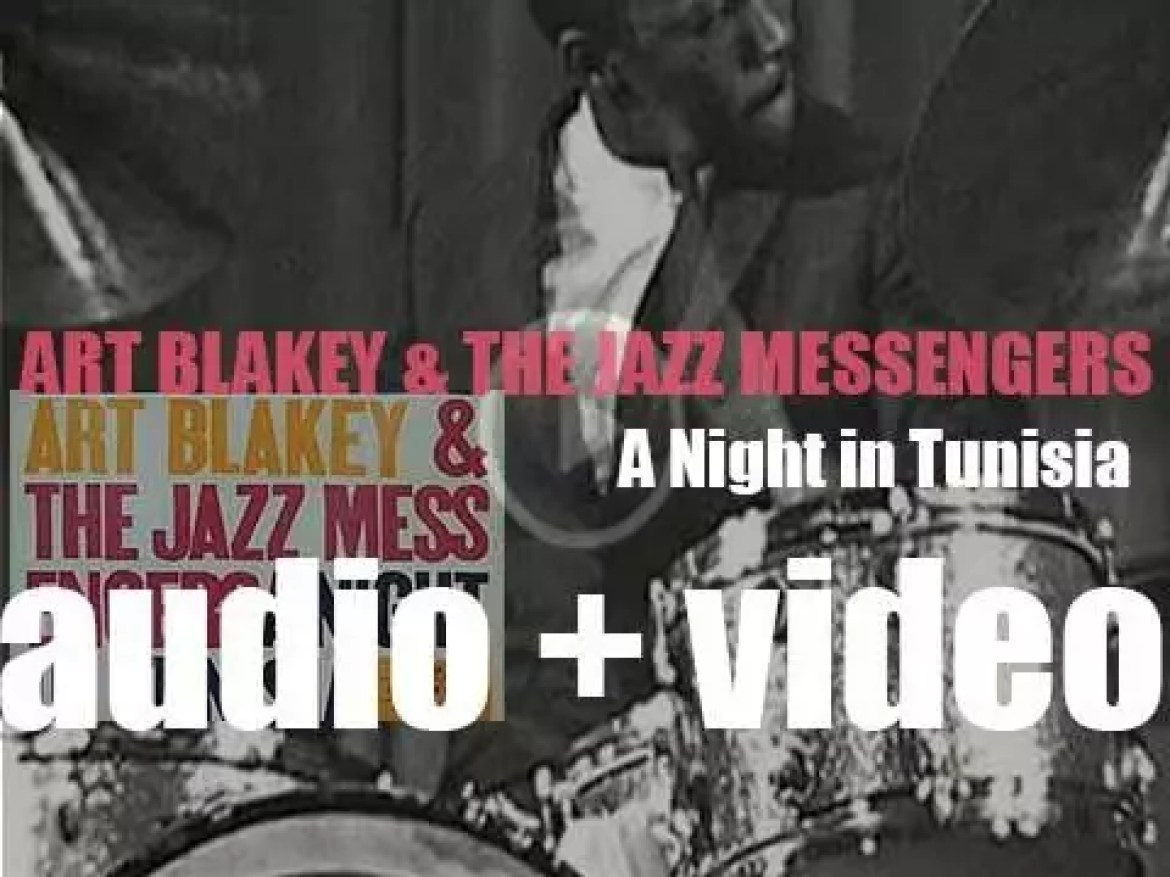 Art Blakey records 'A Night in Tunisia' with the Jazz Messengers featuring Lee Morgan, Wayne Shorter, Bobby Timmons and Jymie Merritt (1960)