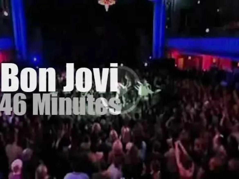Bon Jovi perform in NYC (2002)