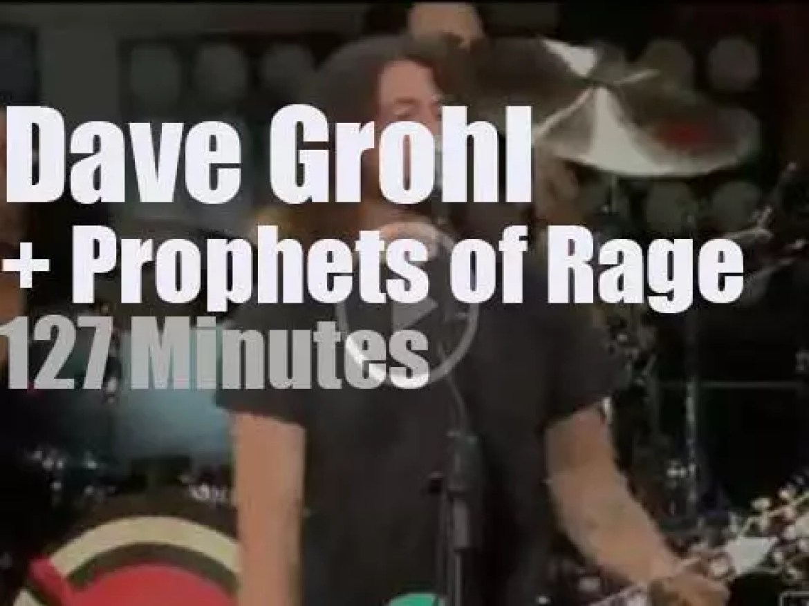 Dave Grohl sits in with Prophets of Rage (2016)
