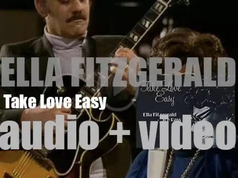 Ella Fitzgerald records 'Take Love Easy' with Joe Pass (1973)
