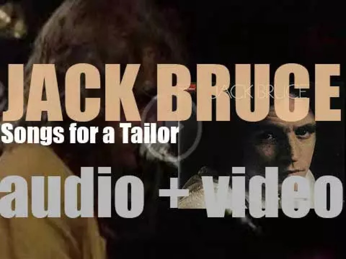 Polydor publish Jack Bruce's debut solo album : 'Songs for a Tailor' (1969)