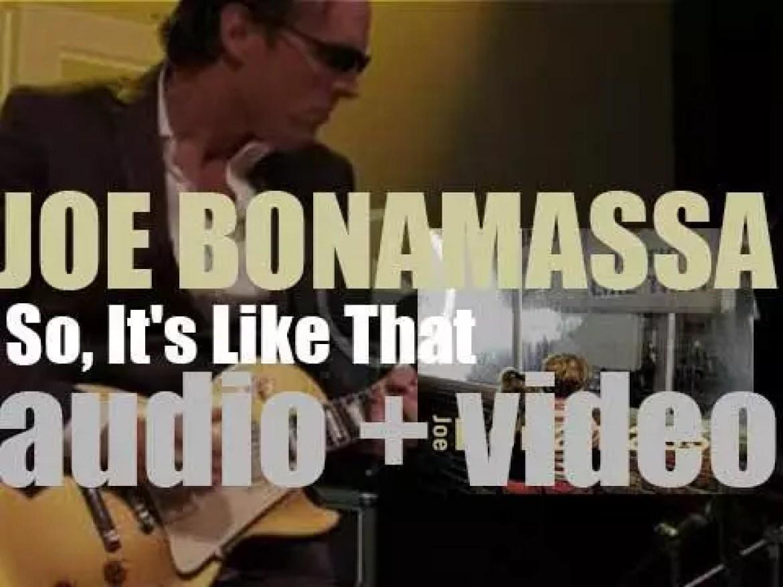 Joe Bonamassa releases his second album : 'So, It's Like That' (2002)