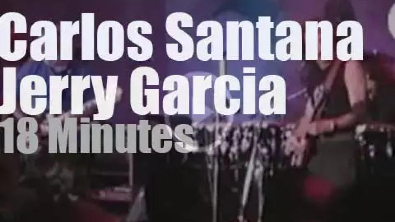 Carlos Santana & Jerry Garcia meet in LA (1989)