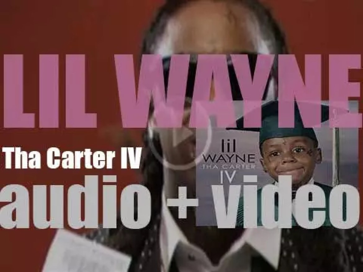 Lil Wayne releases his ninth album : 'Tha Carter IV' featuring 'She Will,' '6 Foot 7 Foot' and 'How to Love' (2011)
