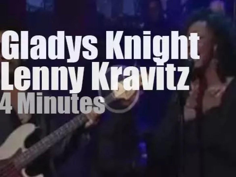 On TV today, Gladys Knight & Lenny Kravitz duet on Letterman (2013)
