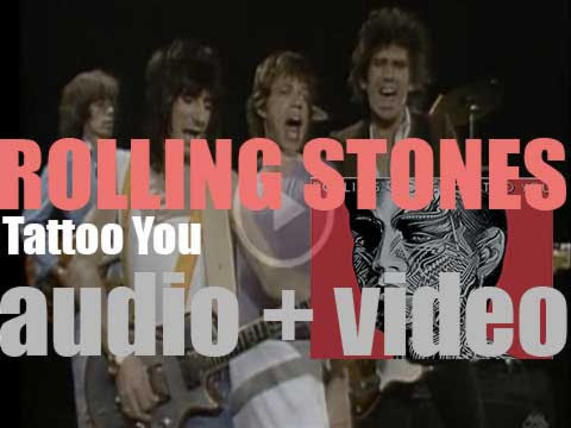 The Rolling Stones release'Tattoo You,' their sixteentth studio album featuring 'Start Me Up' and 'Waiting on a Friend' (1981)