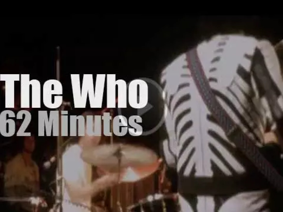 """The Who are  at """"Isle of Wight Festival', day 4  (1970)"""