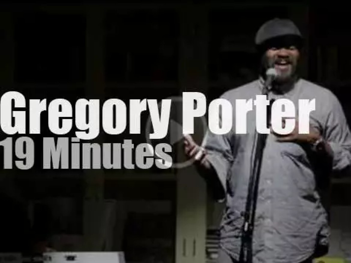Gregory Porter gives a preview in Tokyo (2013)
