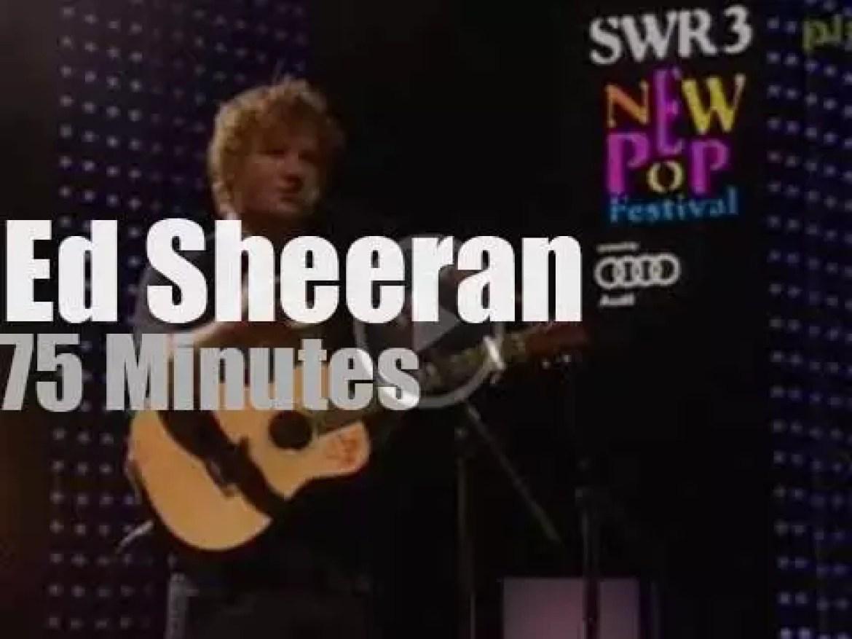 German TV tapes 'Newcomer' Ed Sheeran (2012)