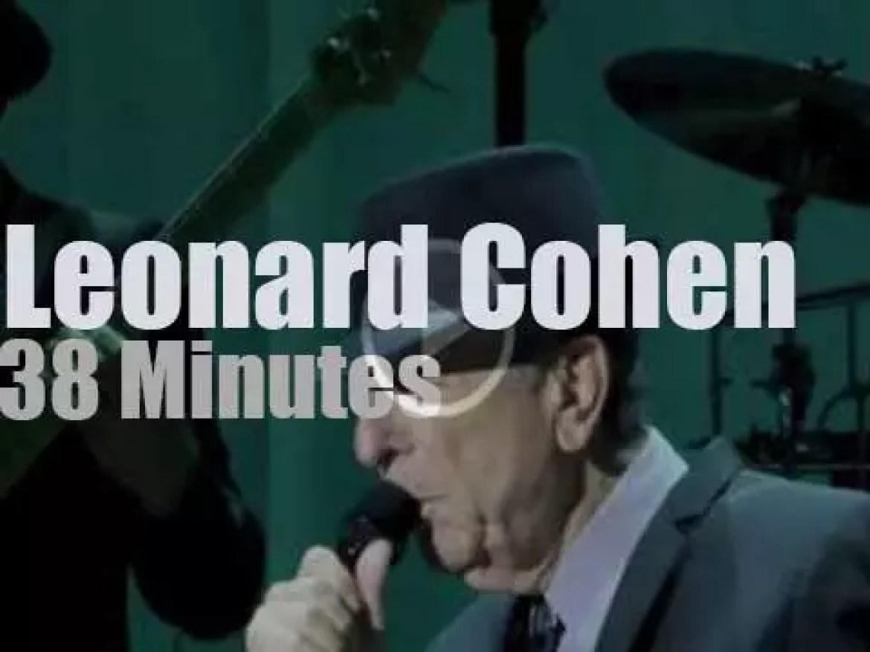 Leonard Cohen is back in London (2013)