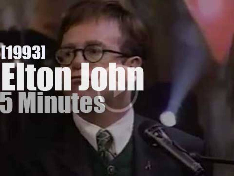 On TV today, Elton John with Jay Leno (1993)